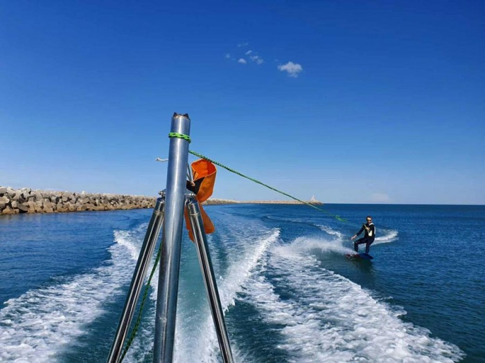 Wakeboard session in south of France