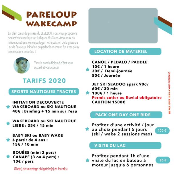 Pareloup Wake Camp - Alt image