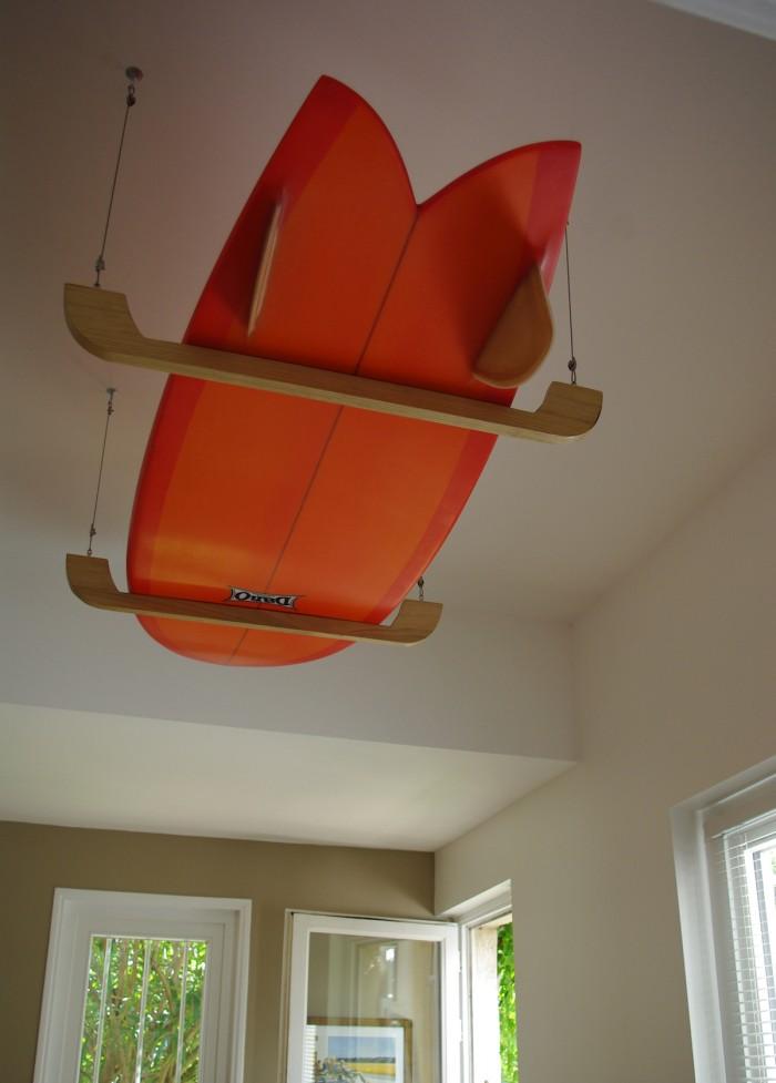 """""""Like A Bird"""" Ceiling Hanging Surf Rack - Alt image"""
