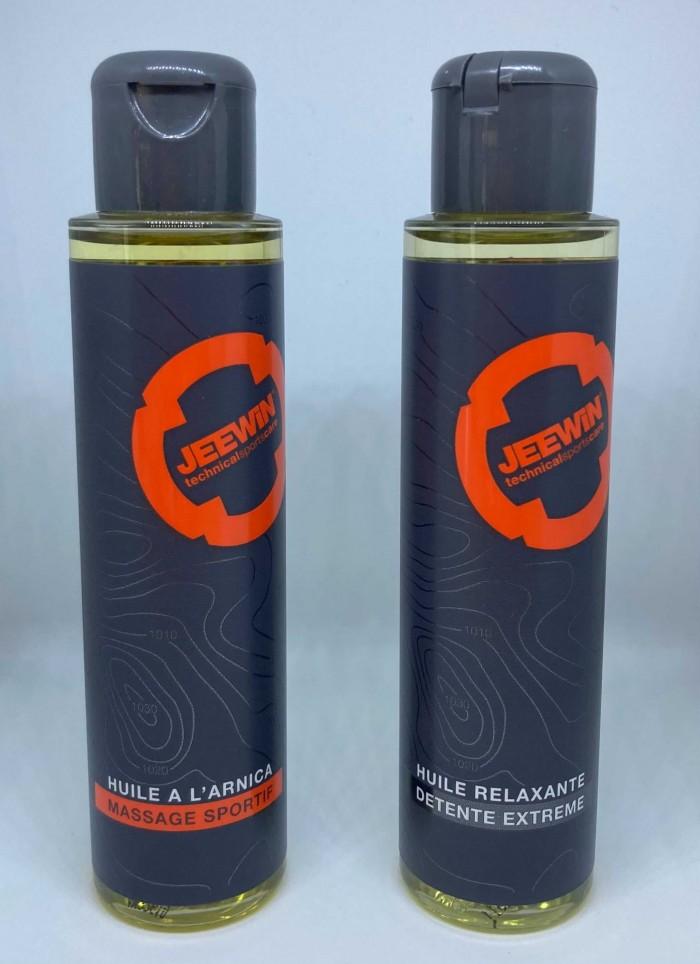 Gamme de produits massages avec des mélanges d'huiles végétales