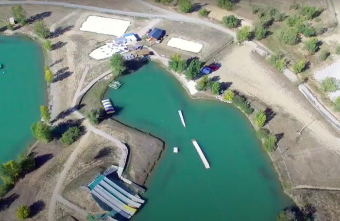 Base nautique eXtrem Ride Park à Muret lors de la saison 2018.