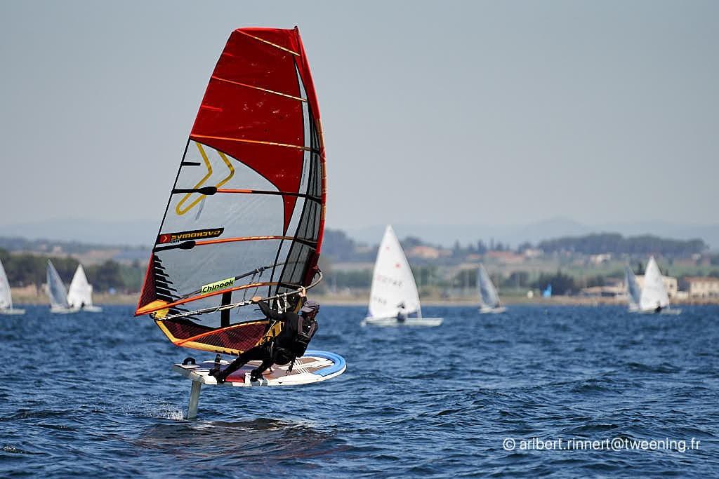 Windsurfing activity at the Cercle de Voile de Marseillan
