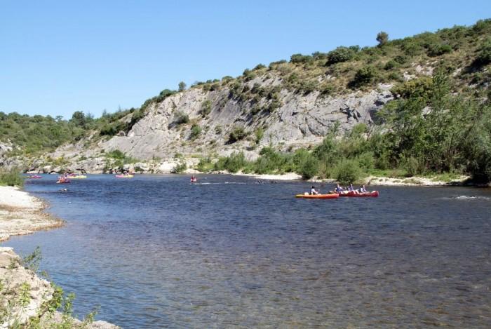 Canoe Kayak canyon the Gard
