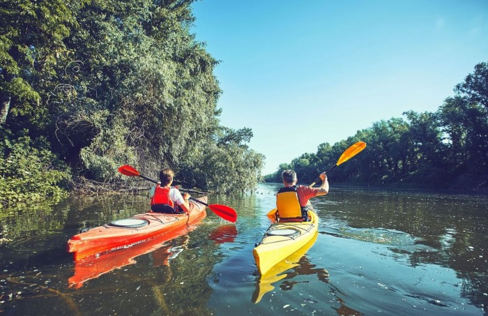 Canoeing south of france