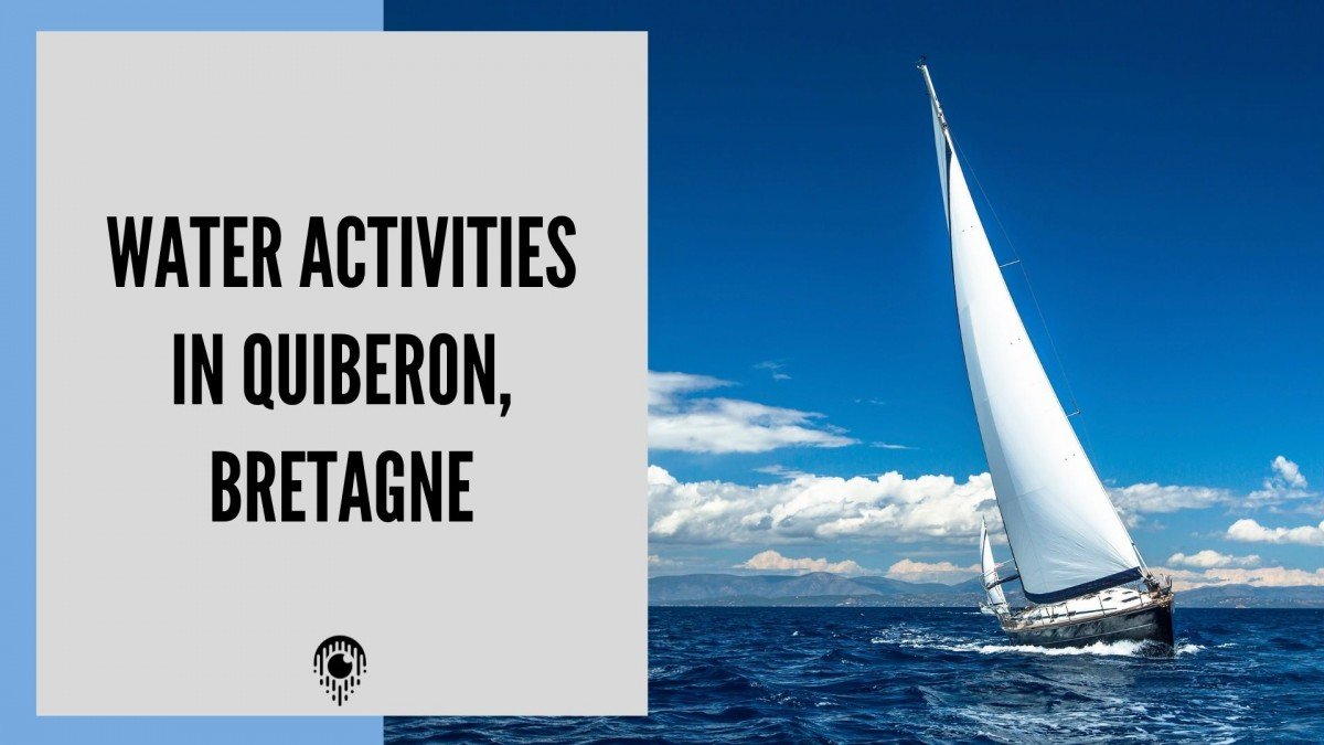 Water activities in Quiberon, Brittany France
