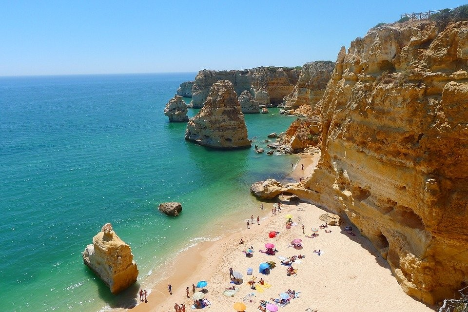 Paradise beach in Portugal for watersports