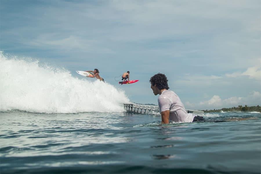Surfeurs team Volcom
