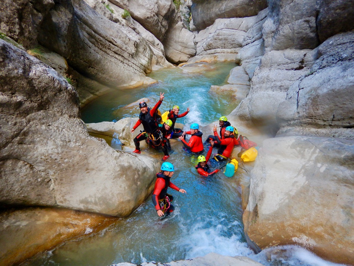 canyoning en groupe