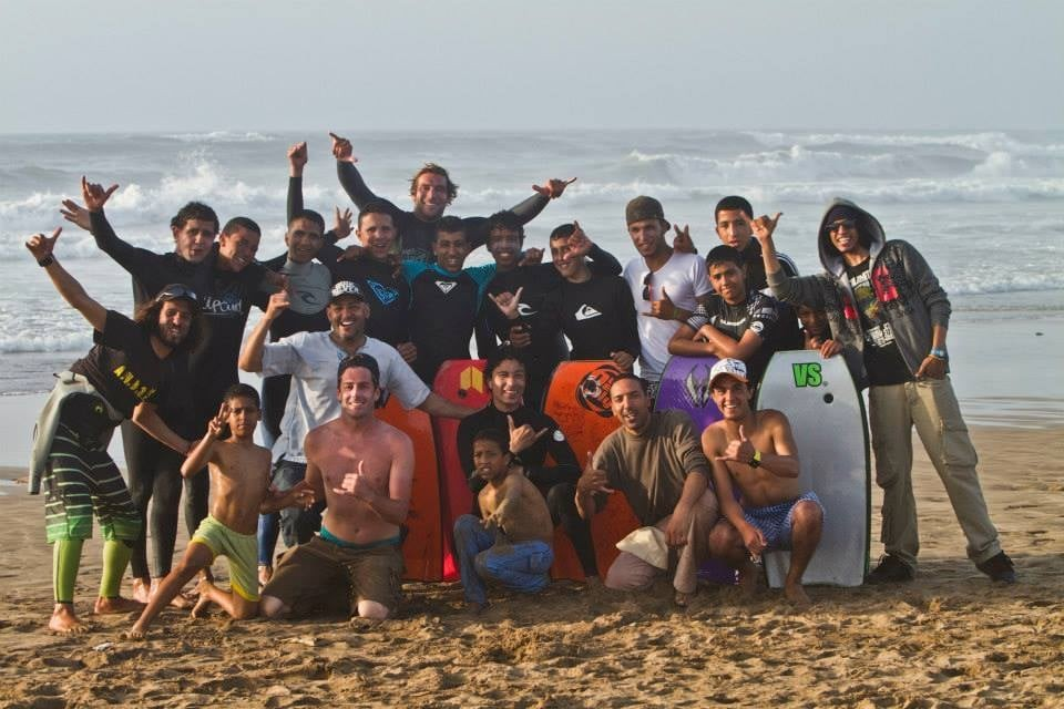 Groupe surf plage