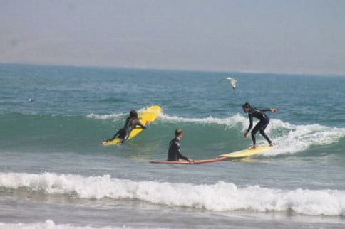 Surfing in Morroco
