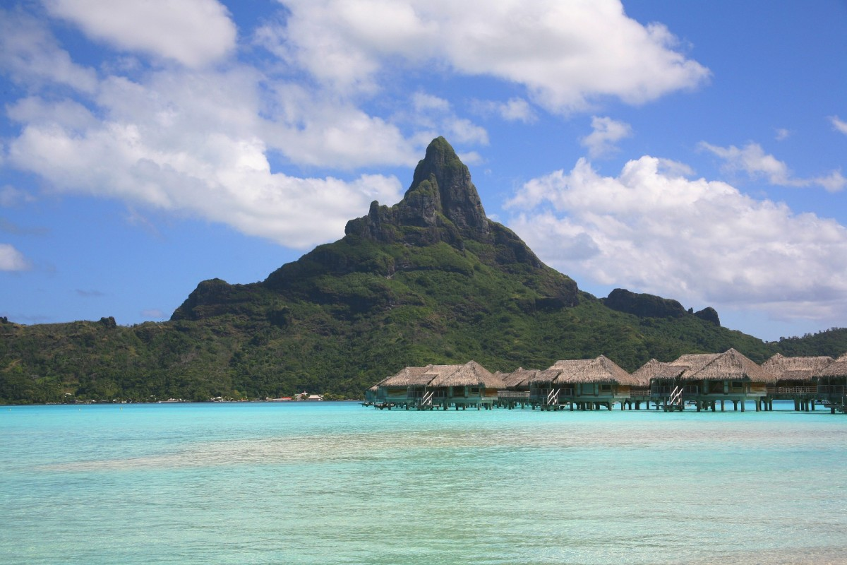 Paradise beach in Polynesia