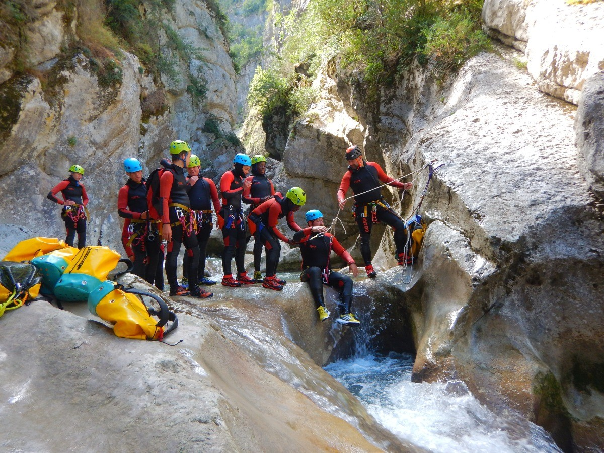 Canyoning session in group