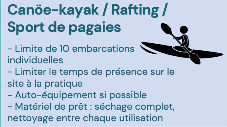 Gestes barrières canoë kayak