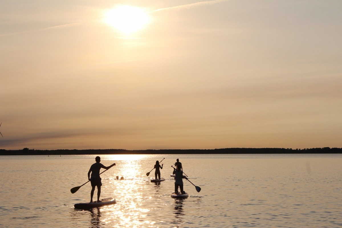 Paddling session in group