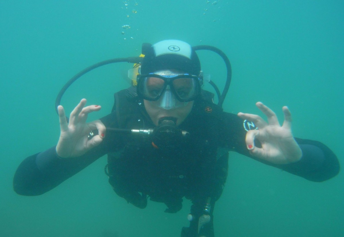 Diving in Brittany