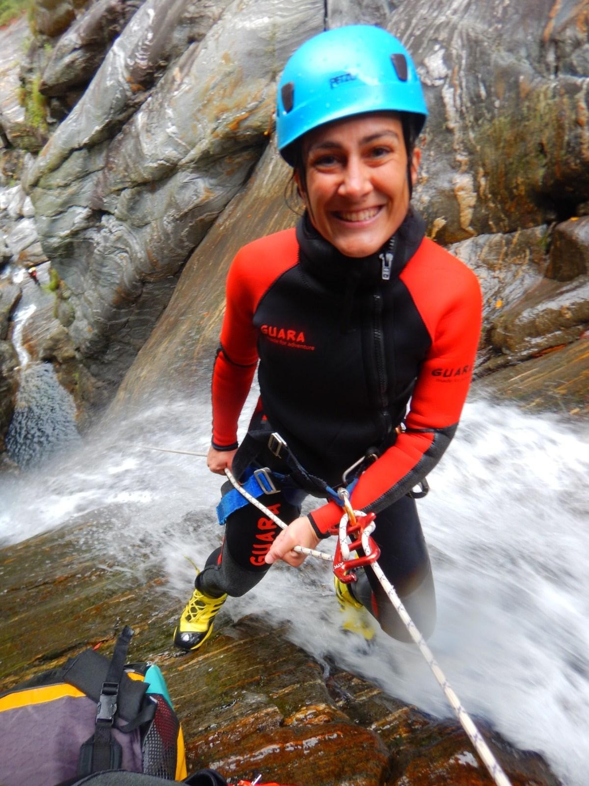 Rappeling canyoning Guara