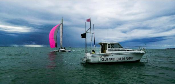 Nautical center Pornic October pink