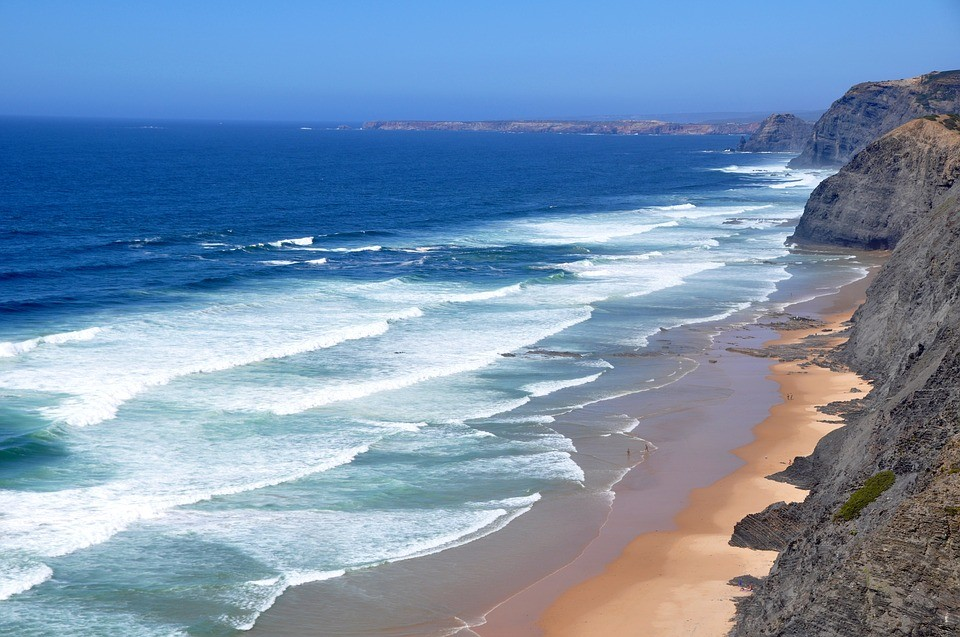 Beach in Portugal for water sport