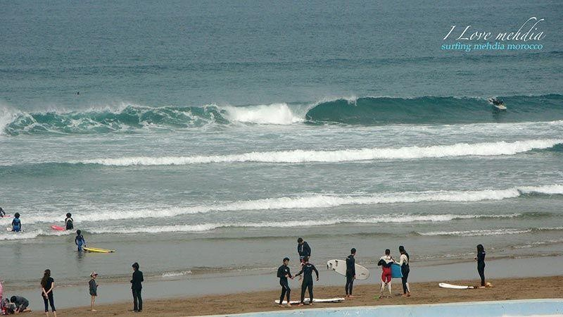 Surf in morrocan sea